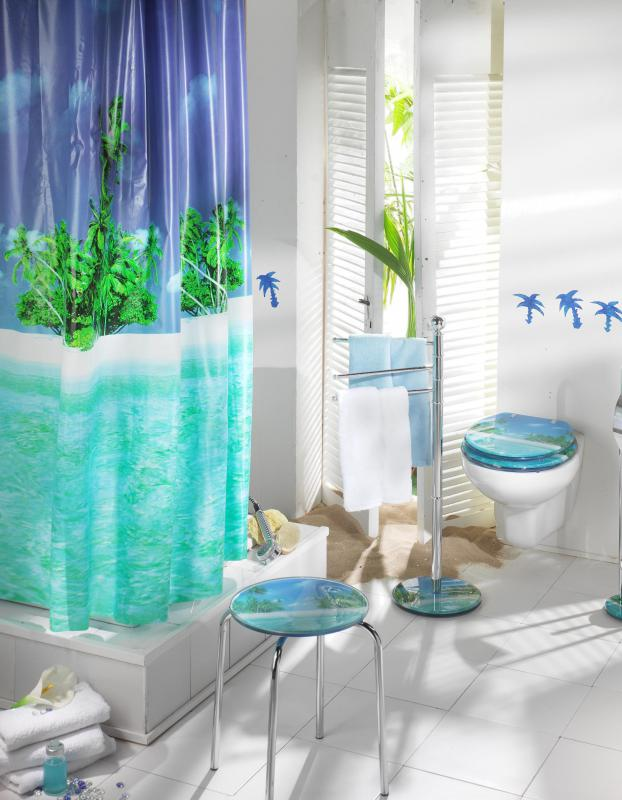 different types of shower curtains