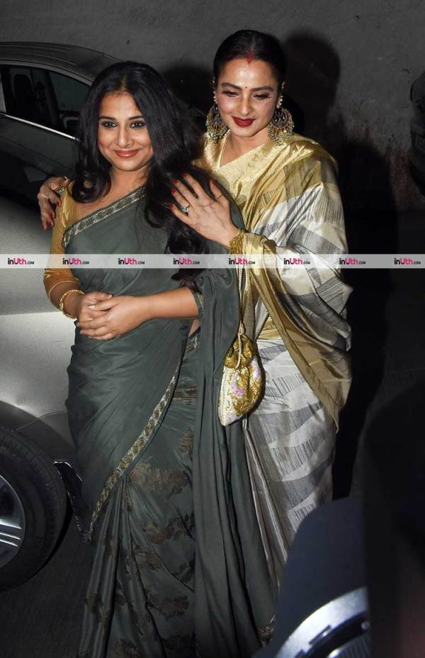vidya balan and rekha at tumhari sulu screening | Vidya ...
