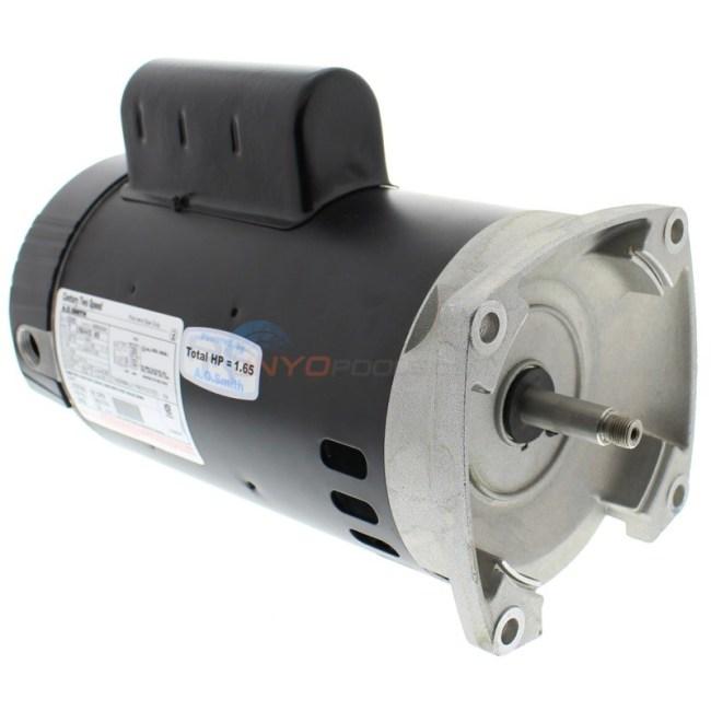 century 10 hp square flange 56y dual speed full rate motor  b2982