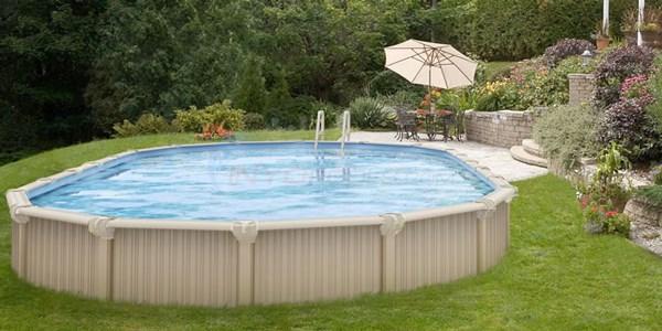 Wilbar Oasis 15 X 30 Oval 54 Aluminum Above Ground Pool W Pump Filter Liner Skimmer Poasym153054aaaarj1p Inyopools Com