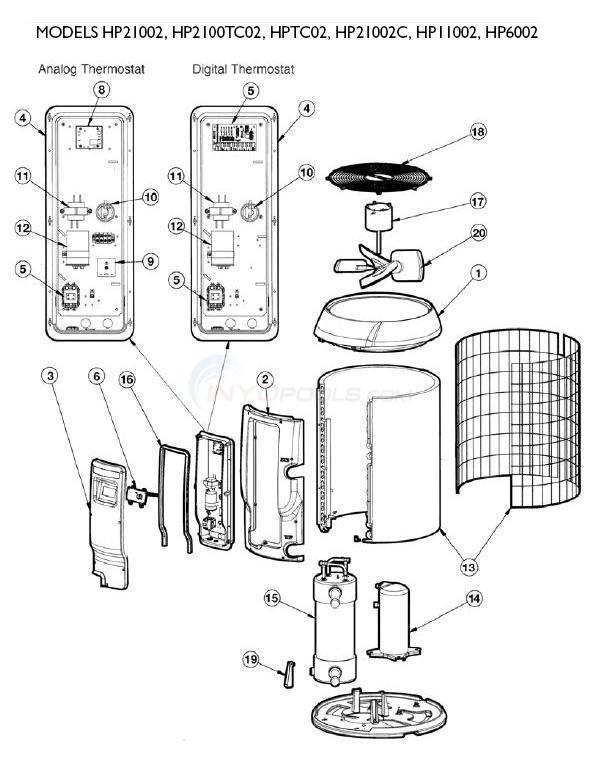 Hayward Heatpro Heat Pumps Set 2 Parts  INYOPools
