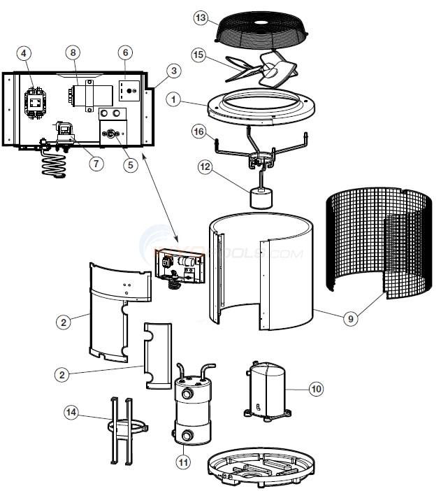 Hayward Heat Pro Heat Pump HP380, HPABG Parts  INYOPools