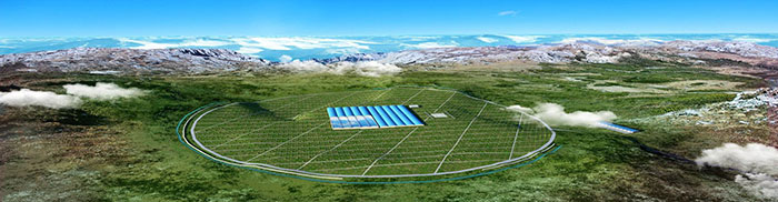 Layout of the LHAASO Project. (Courtesy: IHEP/LHAASO Collaboration)