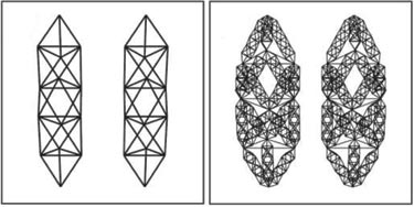 Generation-1 (left) and generation-2 (right) structures.