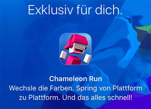 Chameleon Run Apple Store App Geschenkt