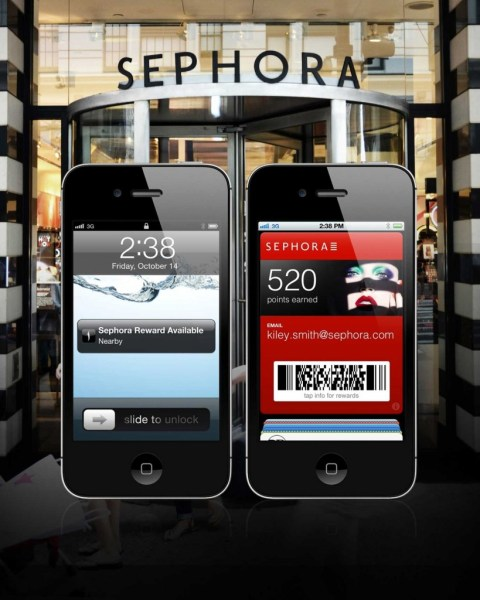 Sephora To Go avec support de Passbook