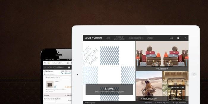 Louis Vuitton lance M-commerce aux États-Unis