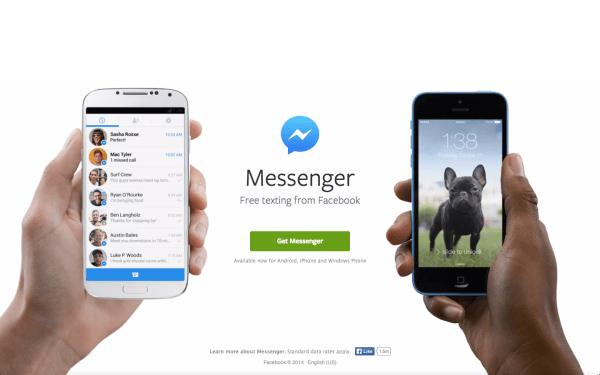 Envoyez des messages gratuitement avec Messenger par Facebook