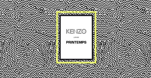 KENZO loves Printemps, dispositif mobile avec iBeacon