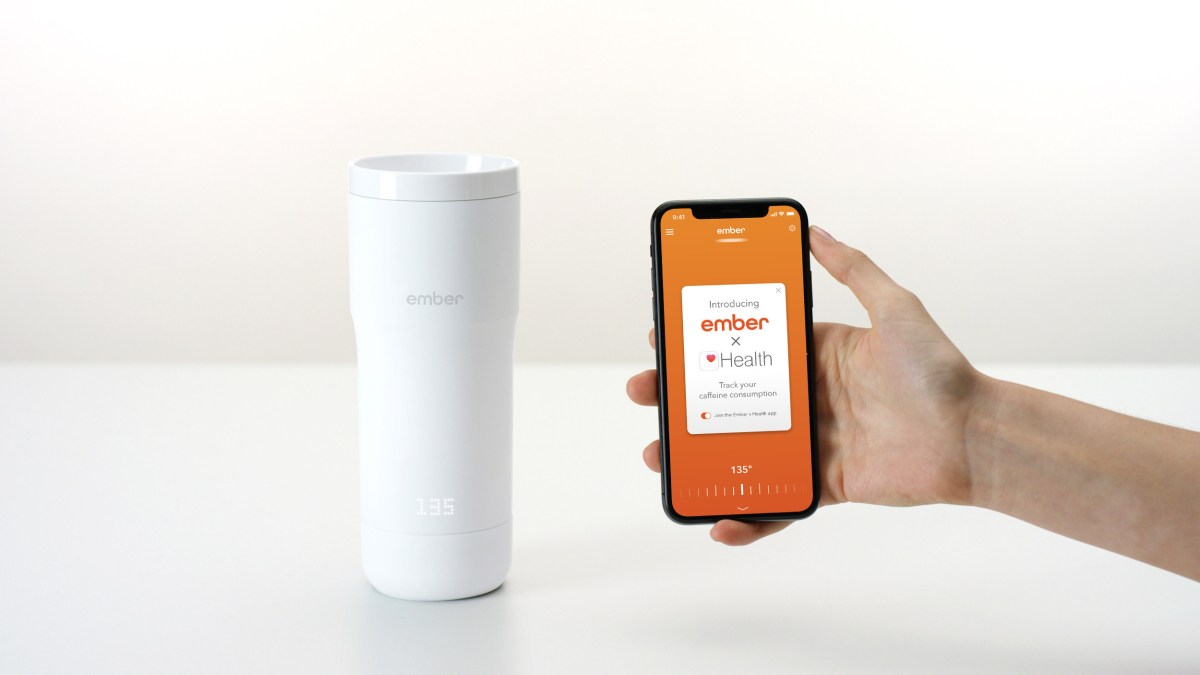 Embers integrates with Apple Health to help users track their caffeine intake