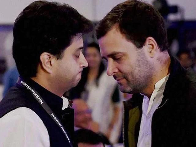 Image result for rahul gandhi and jyoti aditya