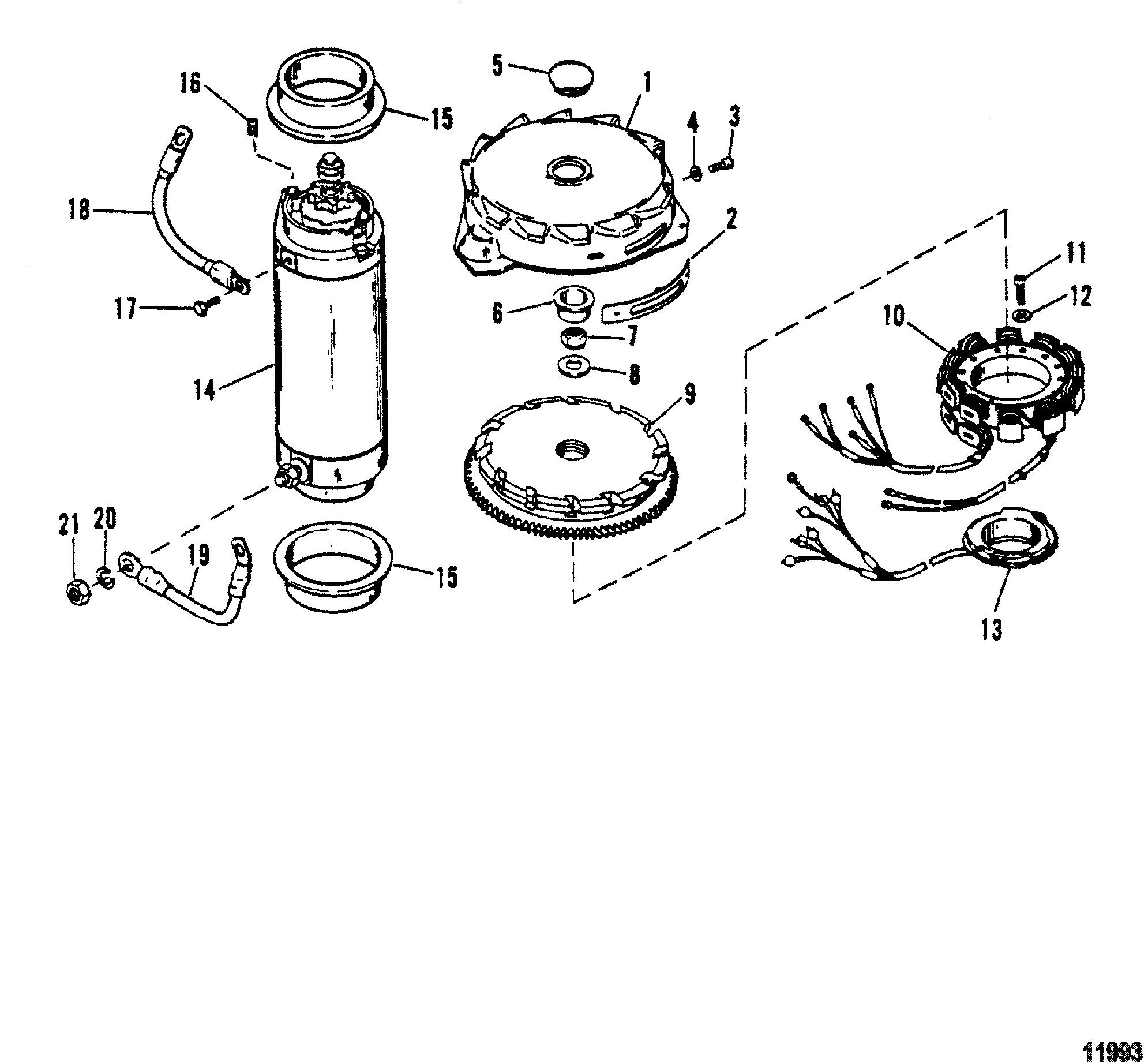 Flywheel Starter Motor For Mariner Mercury 150 175