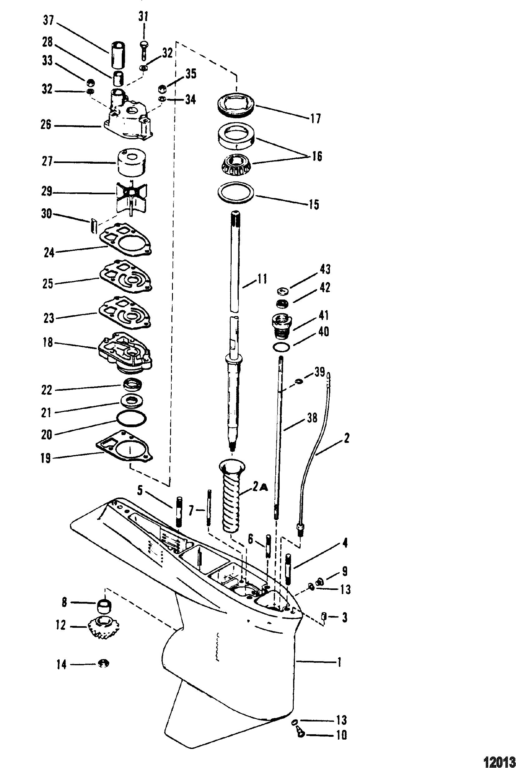 Gear Housing Drive Shaft 178 1 Gear Ratio 4 25 Torpedo