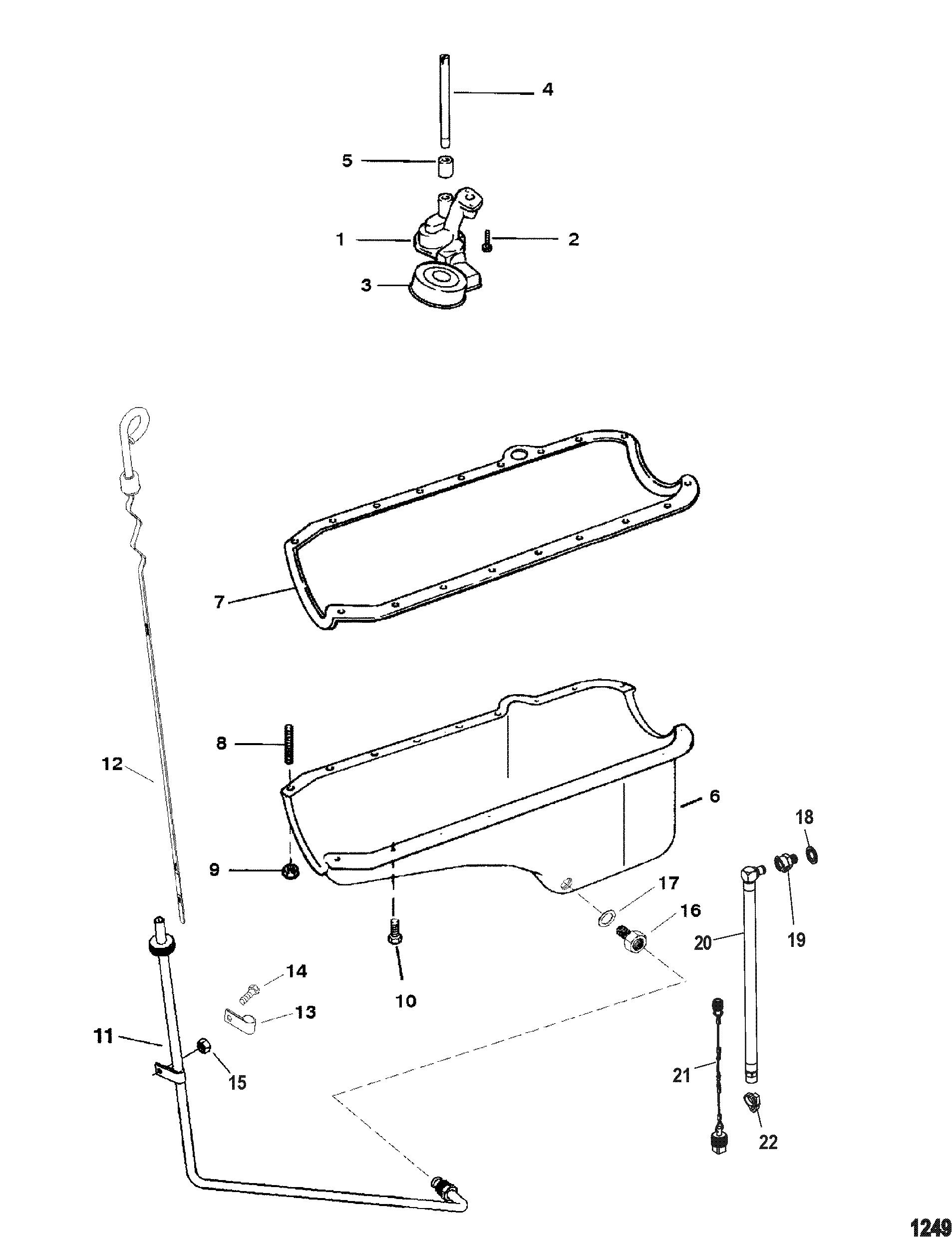 Oil Pan And Oil Pump For Mercruiser 4 3l Efi Alpha Bravo