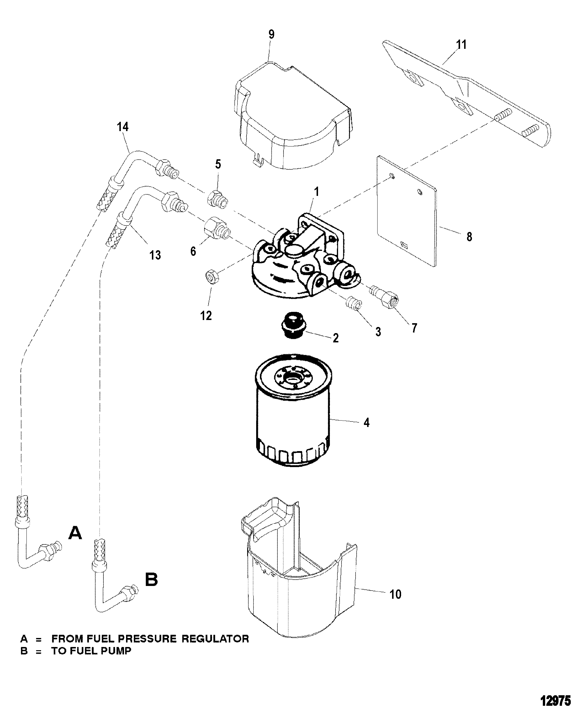 Fuel Filter For Mercruiser 4 3l Efi Alpha Bravo 262 C I D