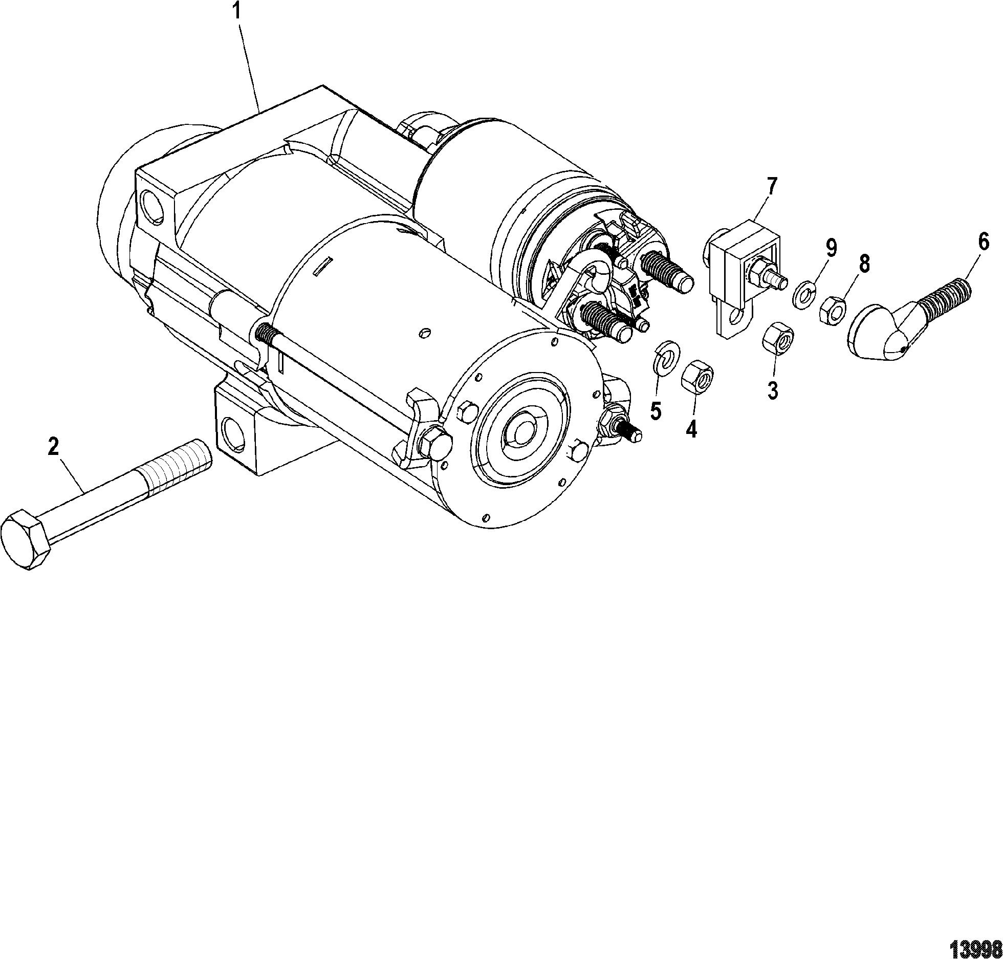 Starter Motor For Mercruiser 4 3l Mpi Alpha Bravo 262 C I