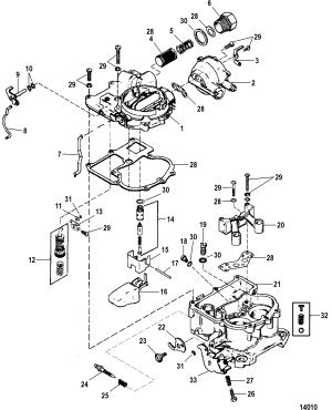 Carburetor Mercarb FOR MERCRUISER 50L57L ALPHABRAVO GEN