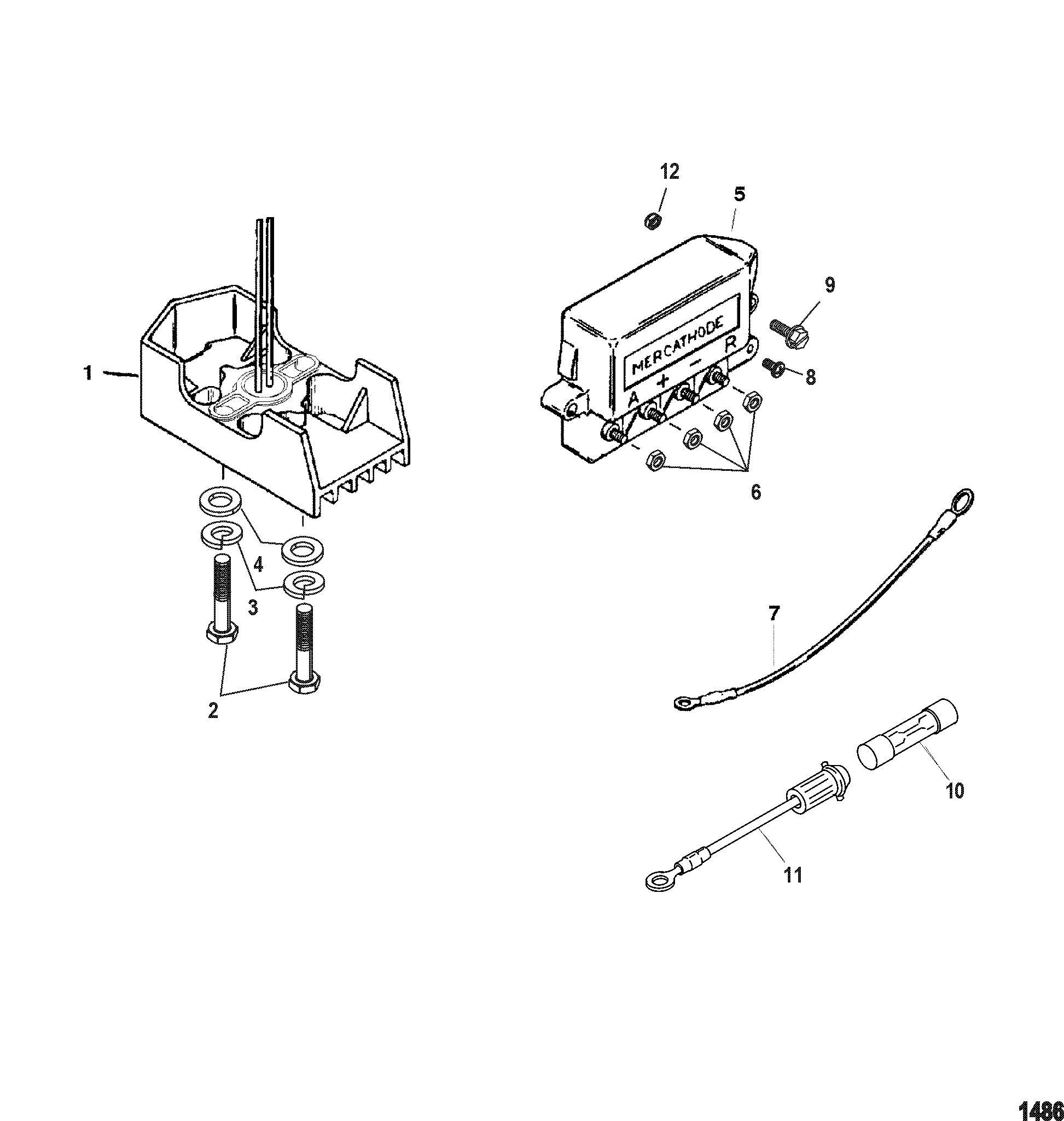 Mercathode Components For Mercruiser 4 3l Mpi Alpha Bravo