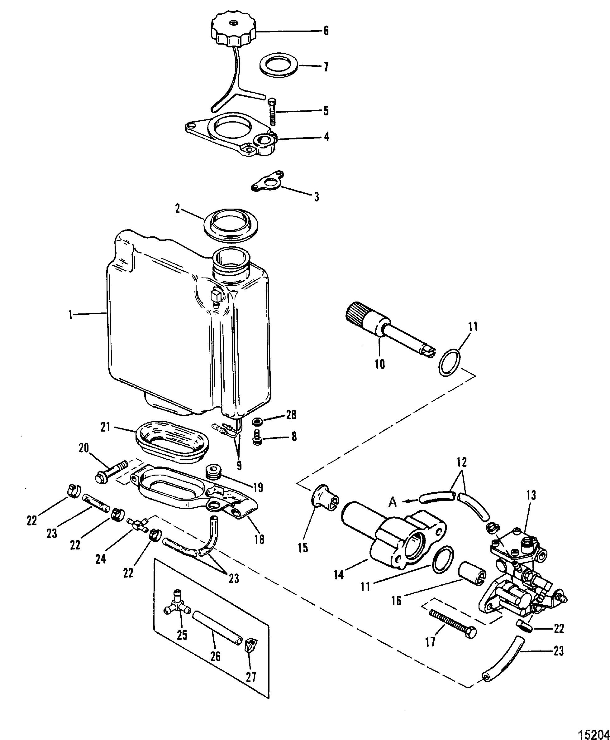 diagram of mercury outboard motor