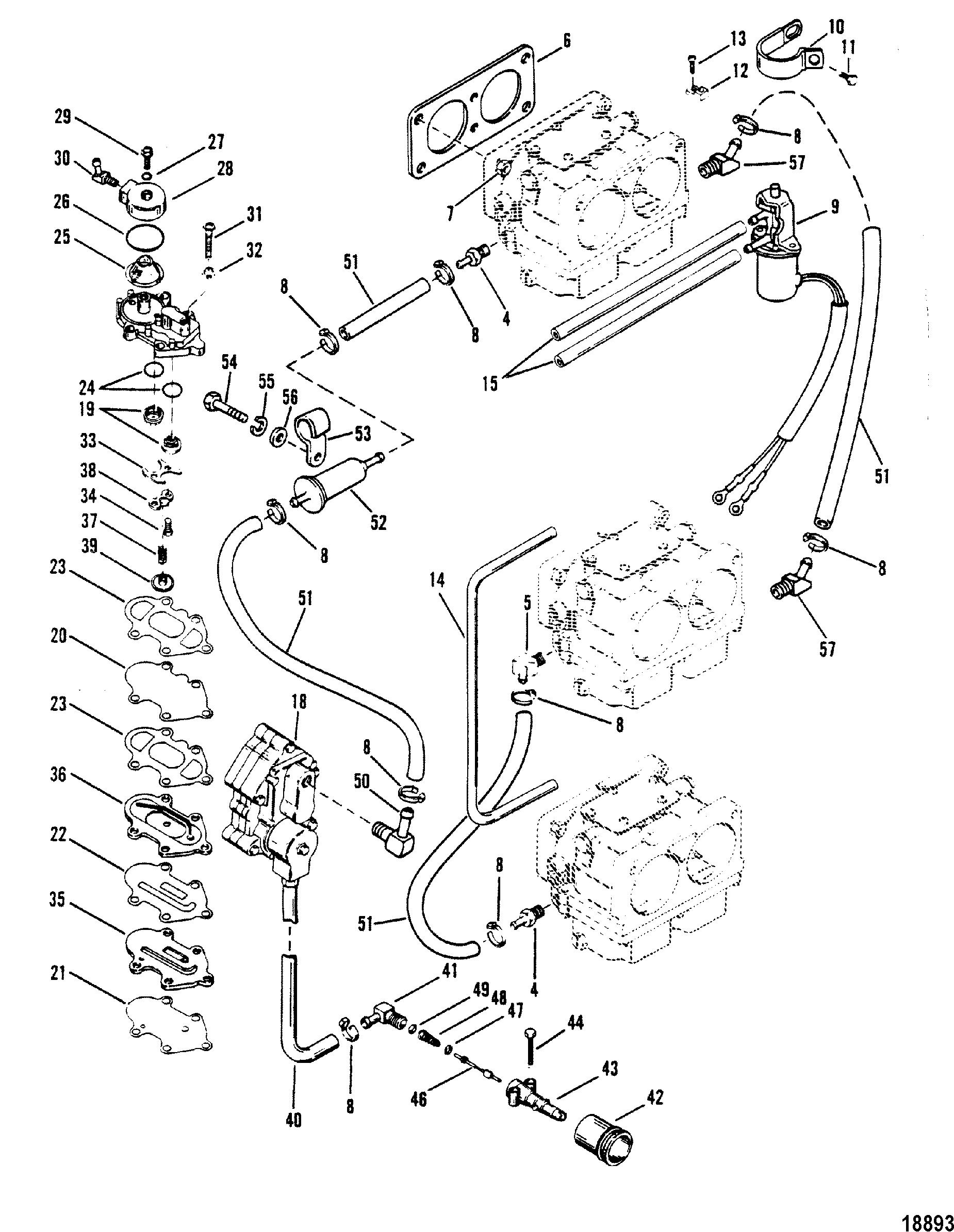 Fuel Pump Design Ii With Inline Filter For Mariner