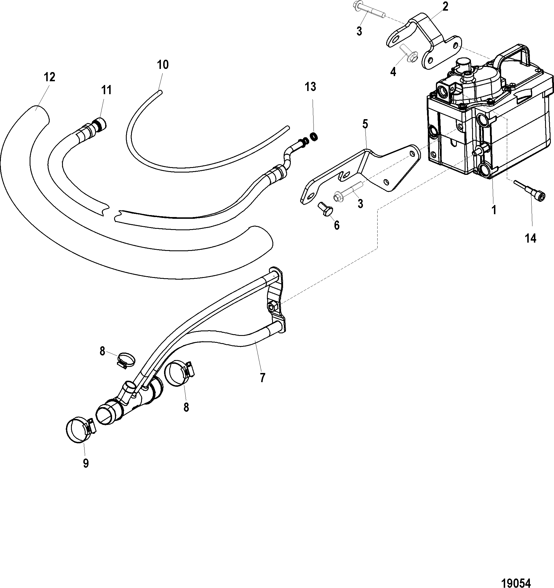 Cool Fuel System Sn 1a Amp Below For Mercruiser 496