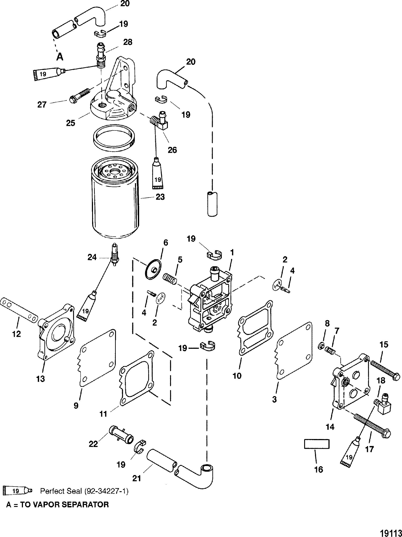 Fuel Pump For Mariner Mercury 225 250 3 0l Efi