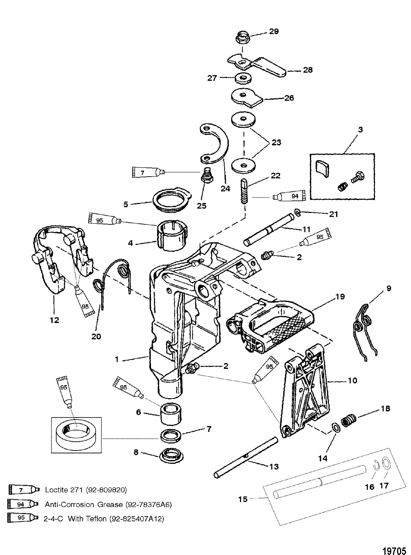 Swivel Bracket For Mariner Mercury 6 8 Sailmate 9 9 Sailpower 15 H P