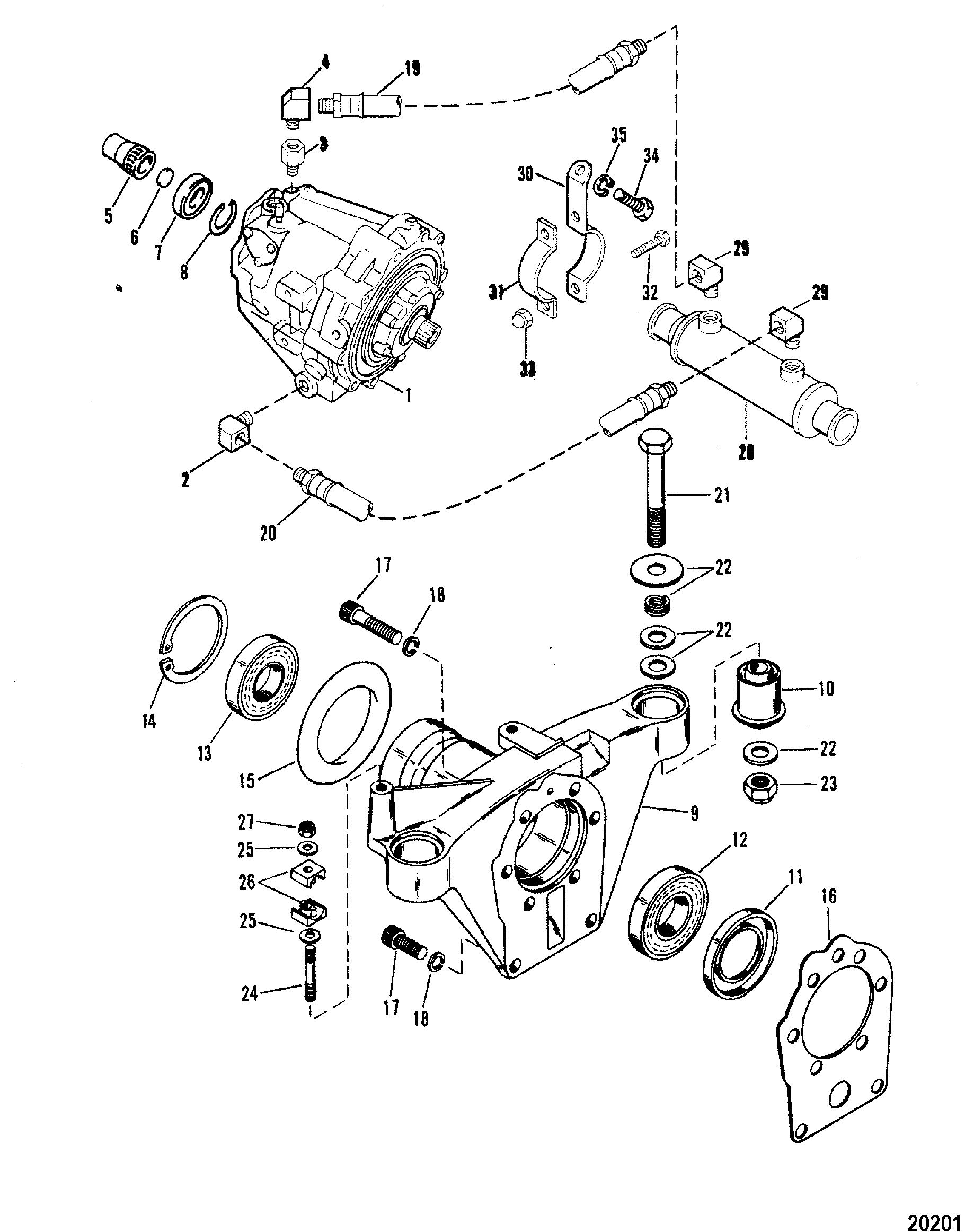 Transmission And Tailstock For Mercruiser 330 H P Engine