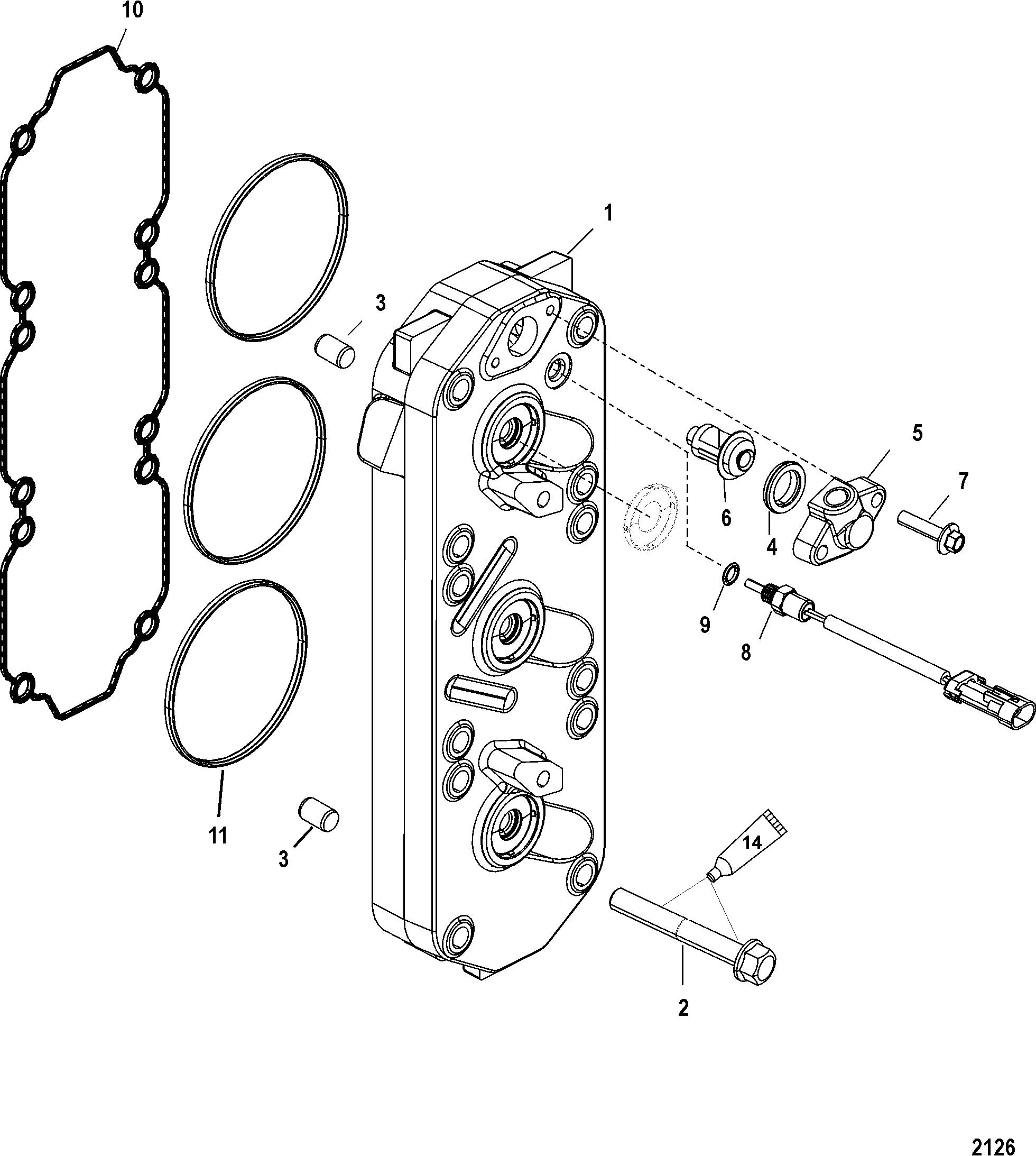 Cylinder Head For Mercury 150 Pro Xs 2 5l