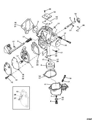 Carburetor SeaProMarathon 1525 & Super 15 FOR MARINER