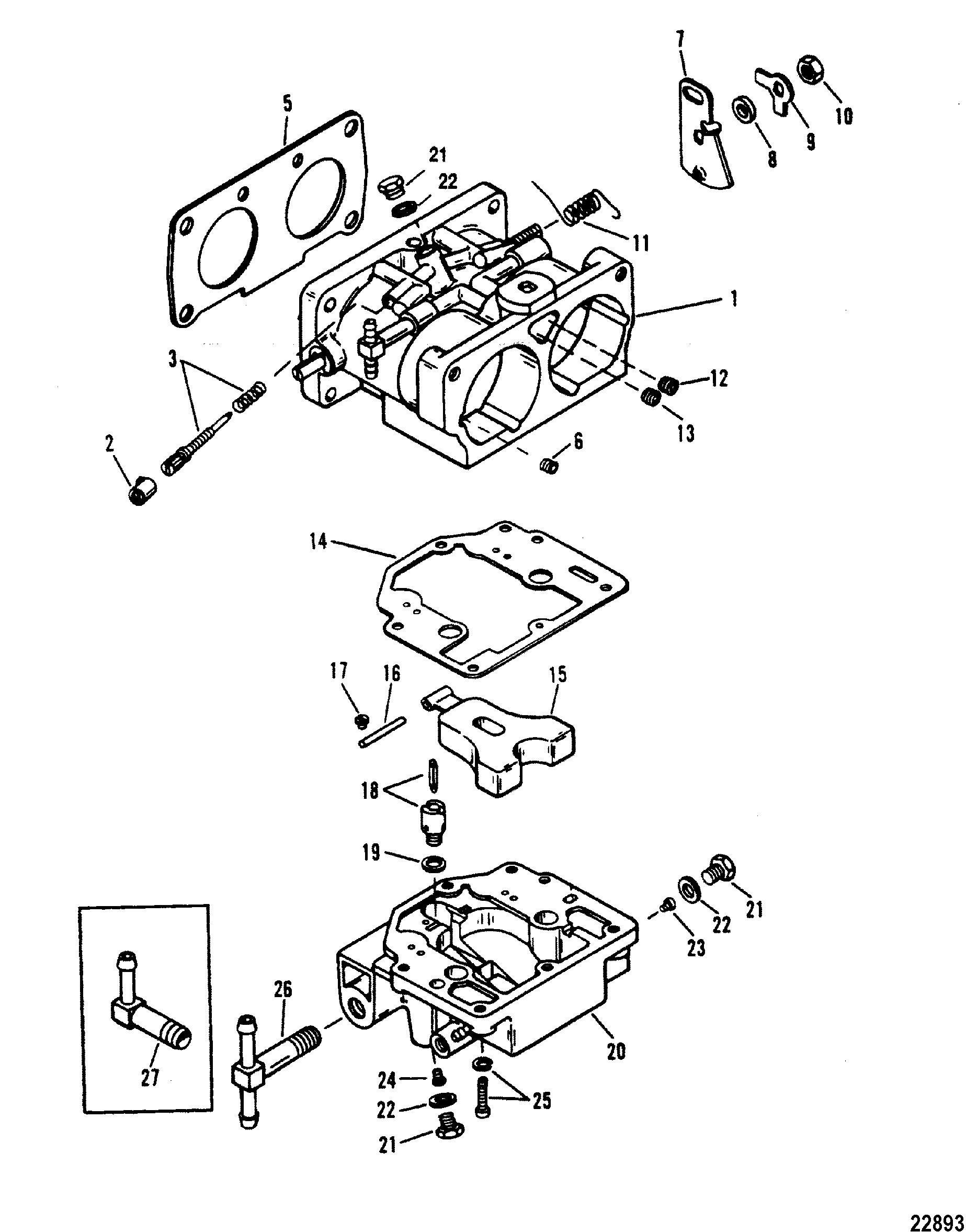 Carburetor Wmh 30 31 32 33 34 For Mariner Mercury 135