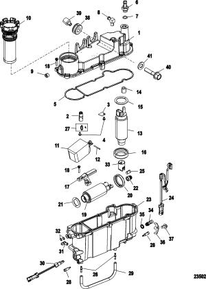 Vapor Separator Components FOR MERCURY 200 OPTIMAX V6 DFI