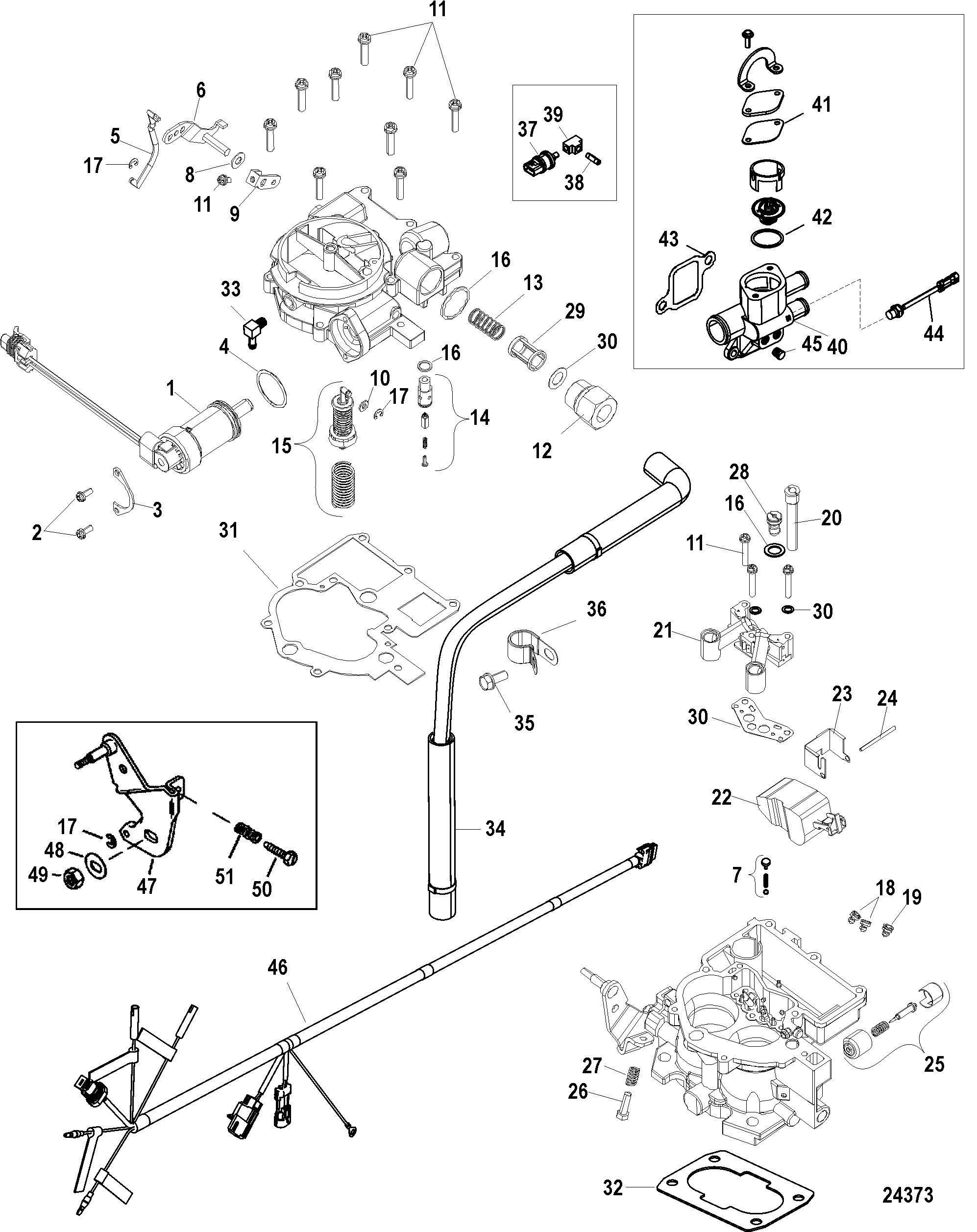 Carburetor Kit Tks For Mercruiser 3 0l Alpha One