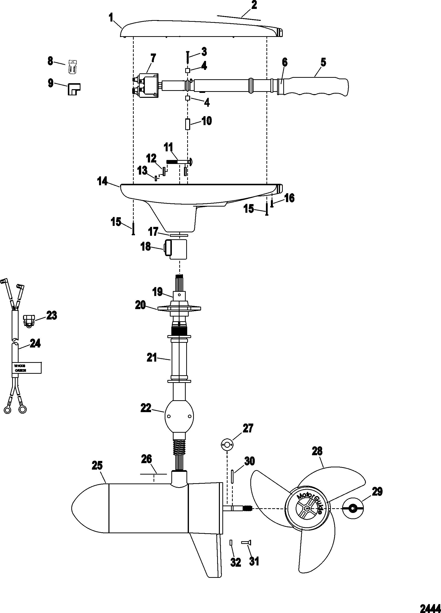 24v trolling motor wiring diagram 33 wiring diagram for Motorguide trolling motor wiring diagram