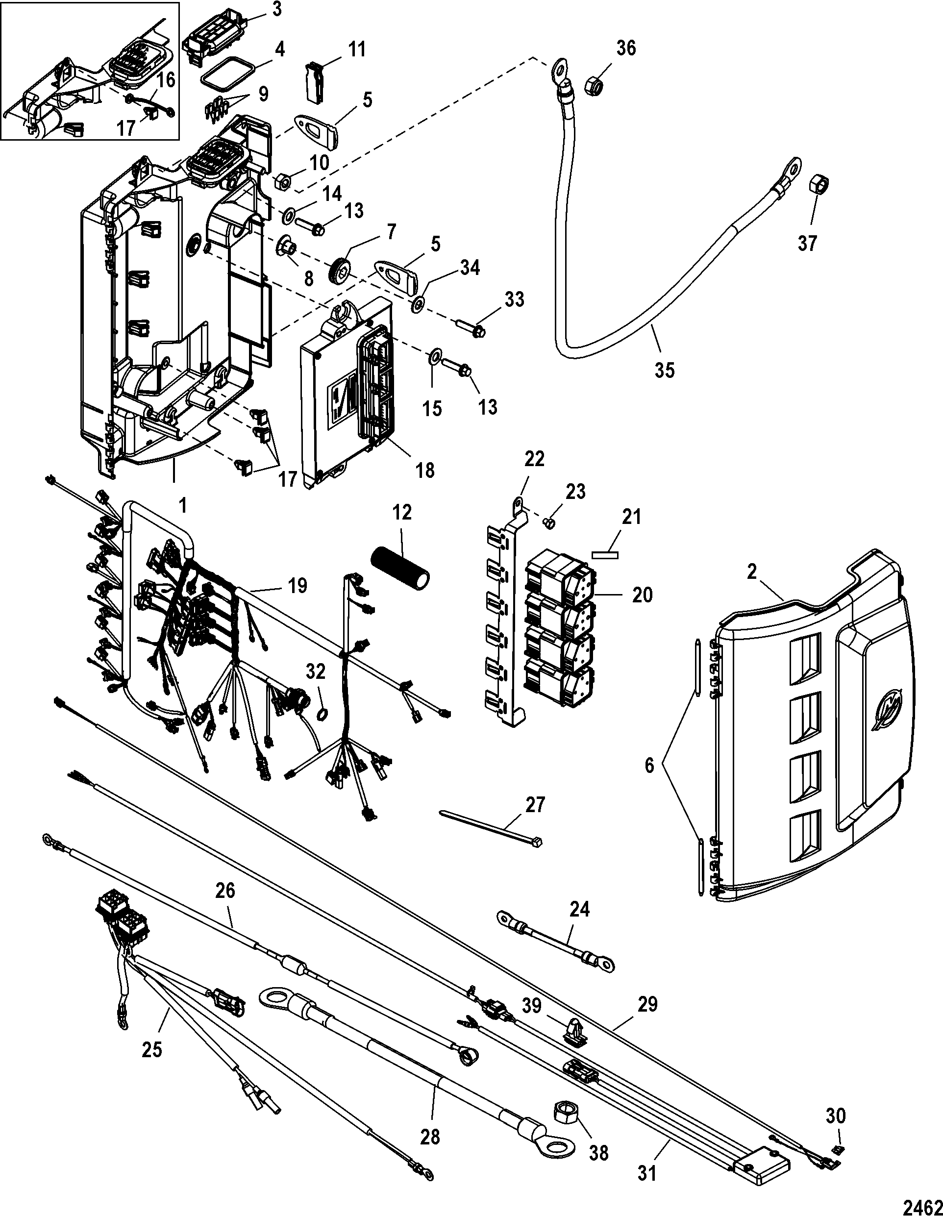 Electrical Box Components For Mariner Mercury 200 225