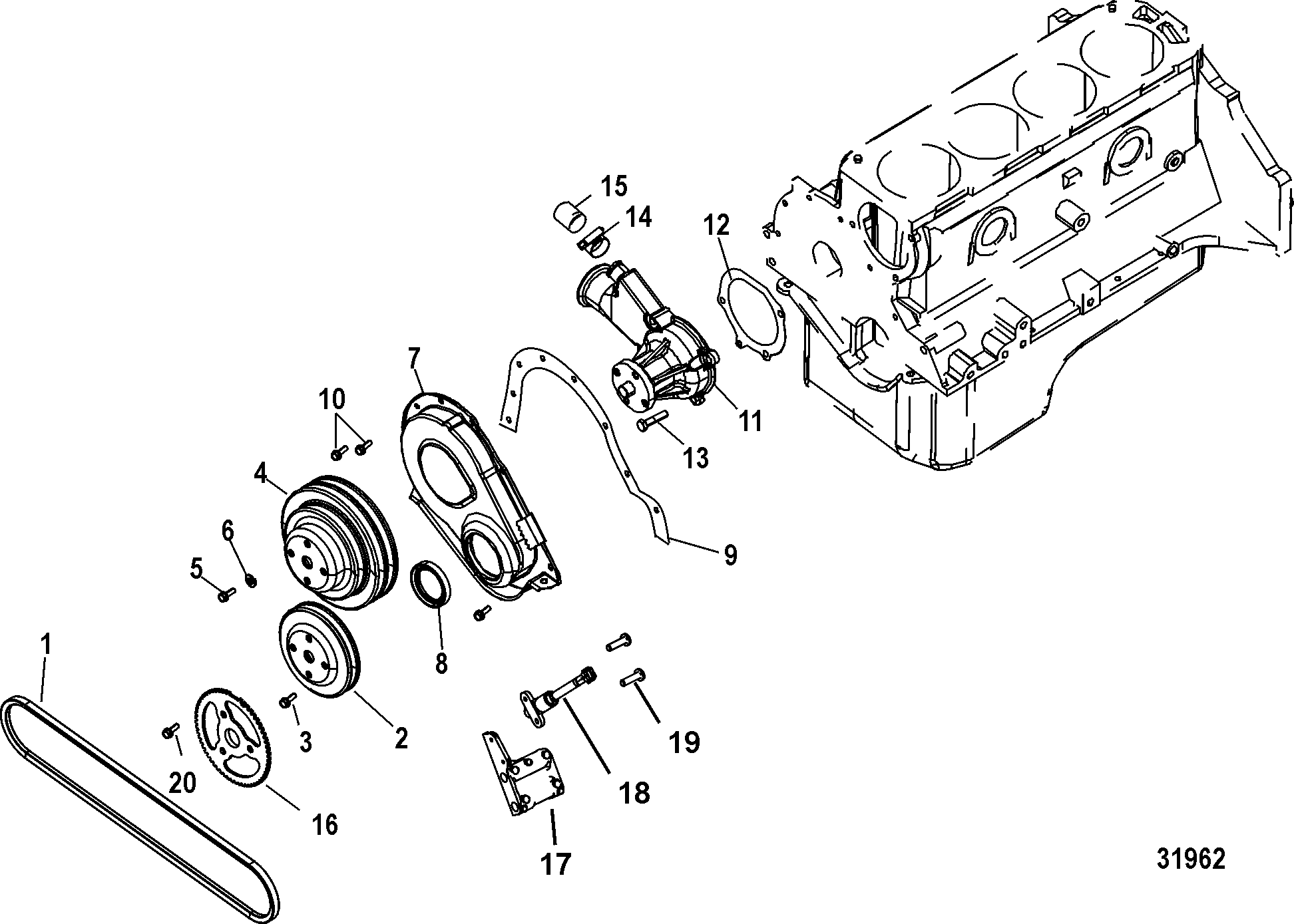 Cylinder Block Front Cover And Circulating Pump For