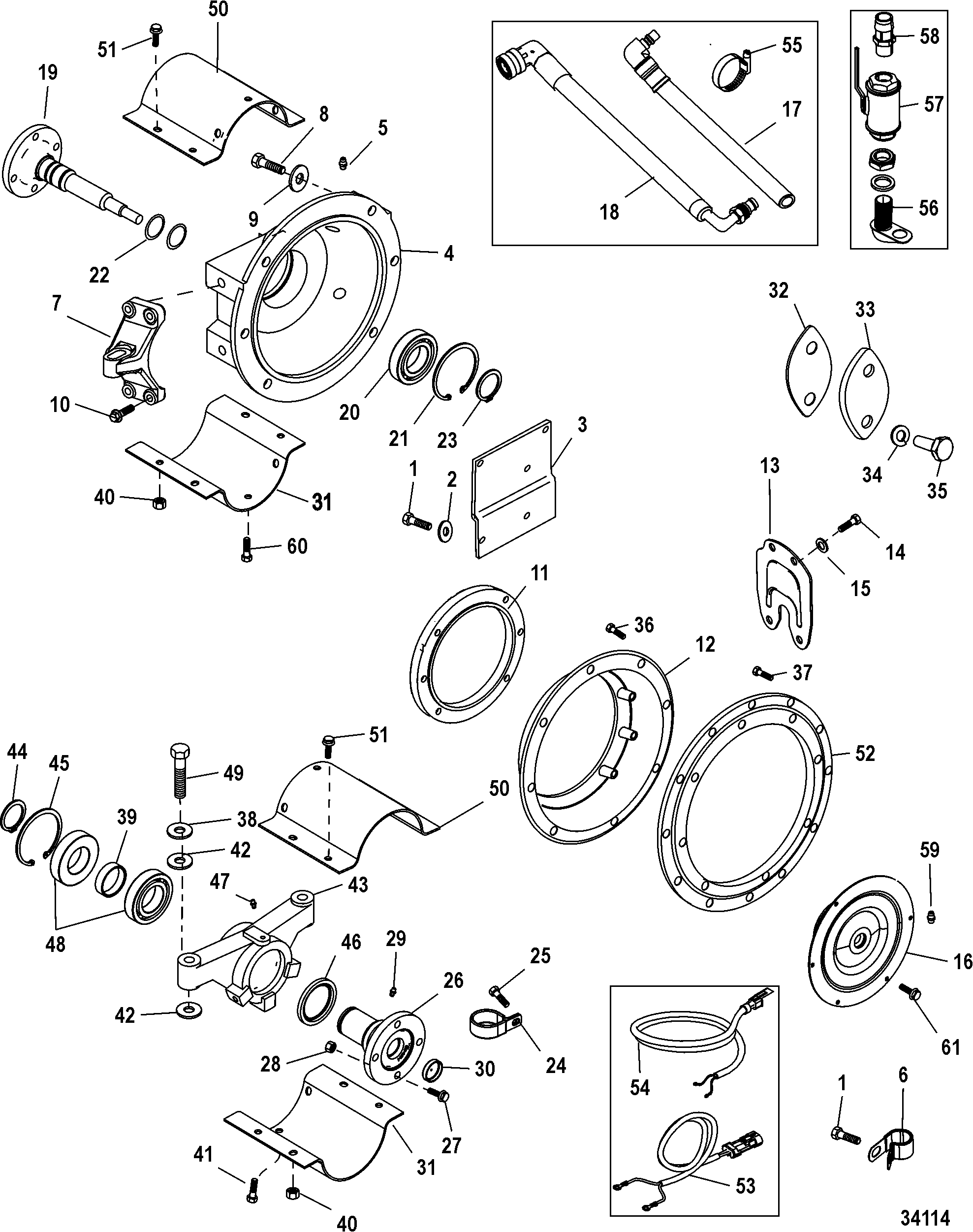 Jackshaft Components For Mercruiser Mie Cummins