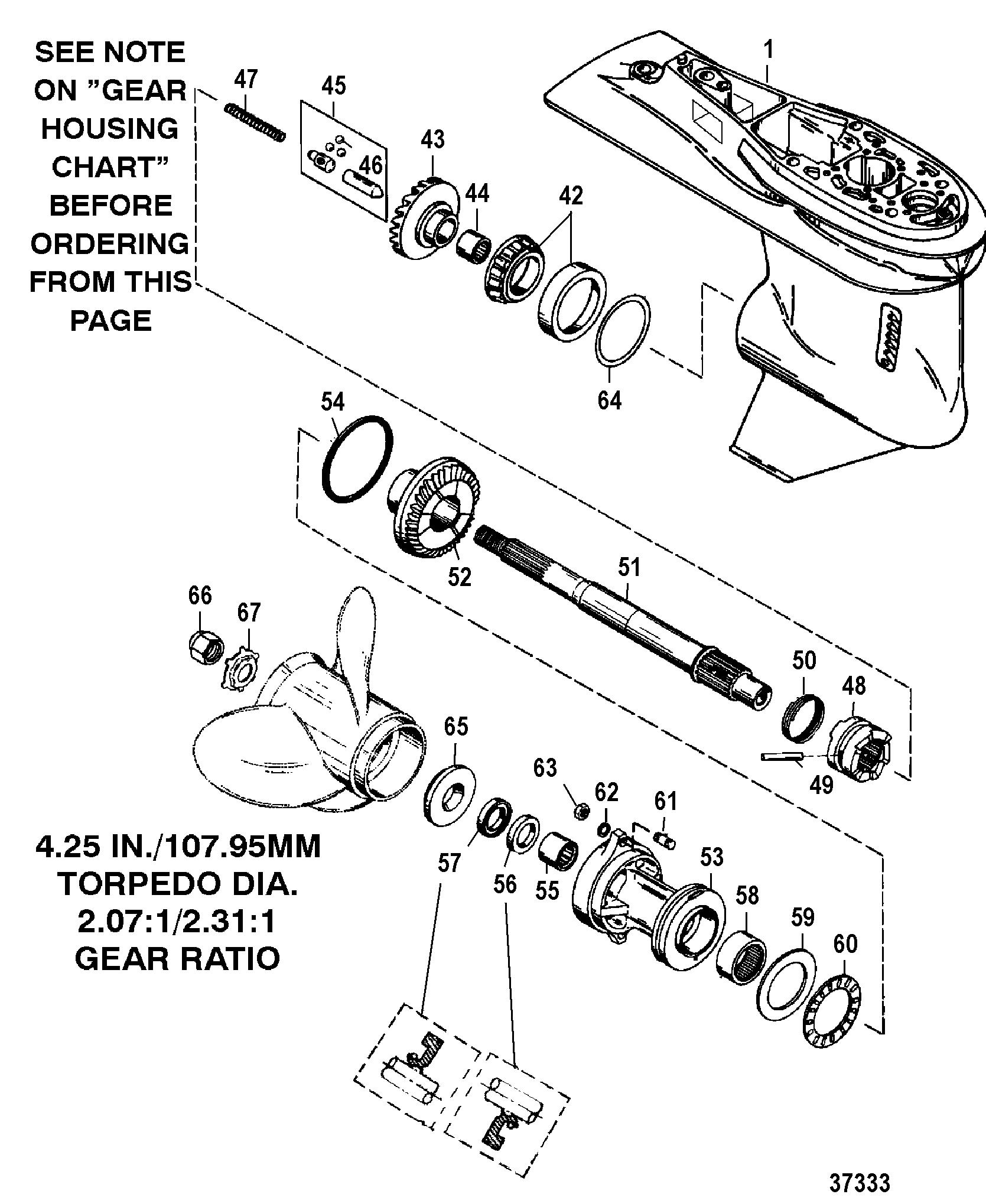Gear Housing Prop Shaft 3 Jaw Reverse Clutch For Mariner