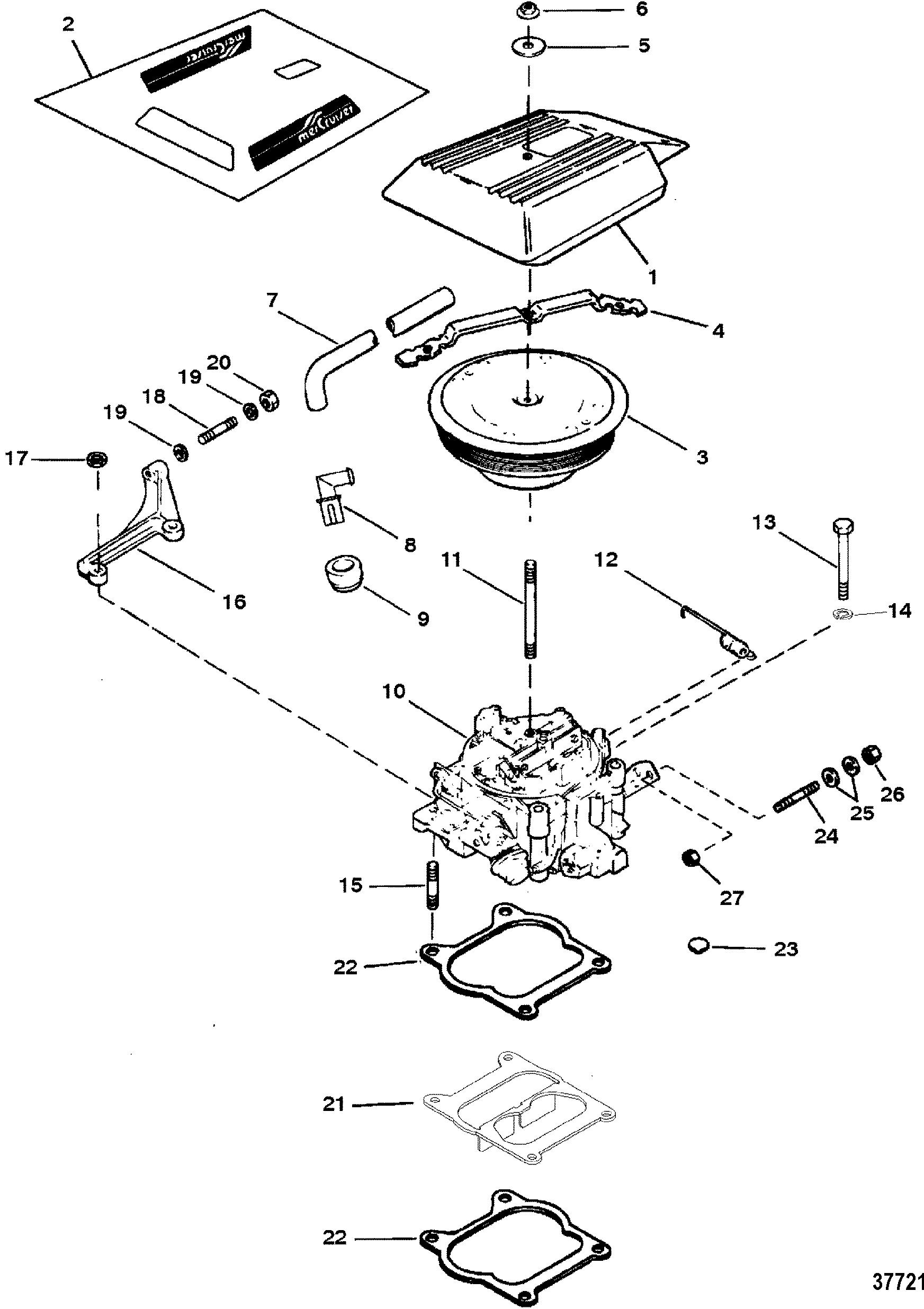 Carburetor Throttle Linkage 4 Barrel For Mercruiser 5 7l