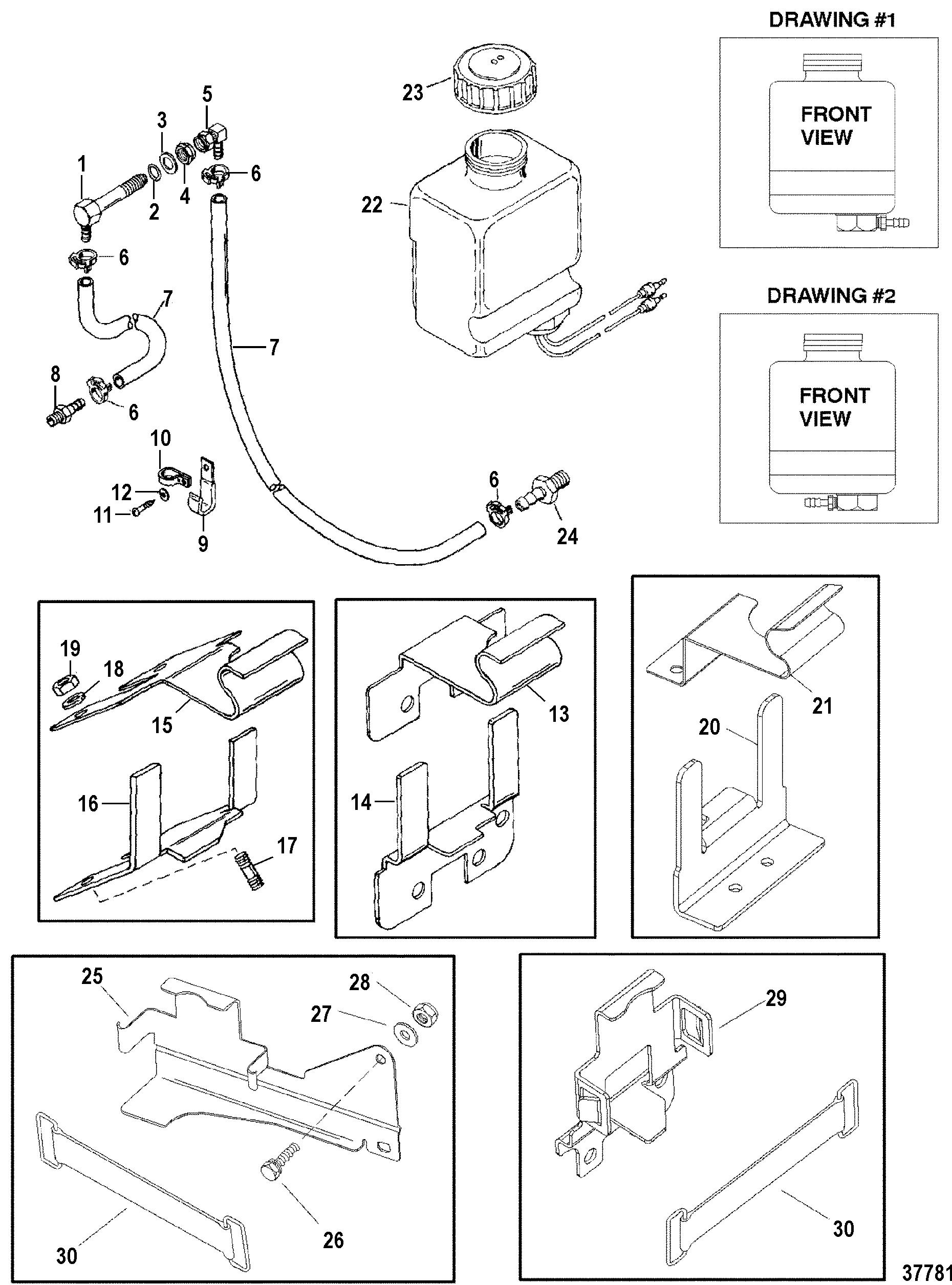 Oil Reservoir Components For Mercruiser Alpha One Gen Ii