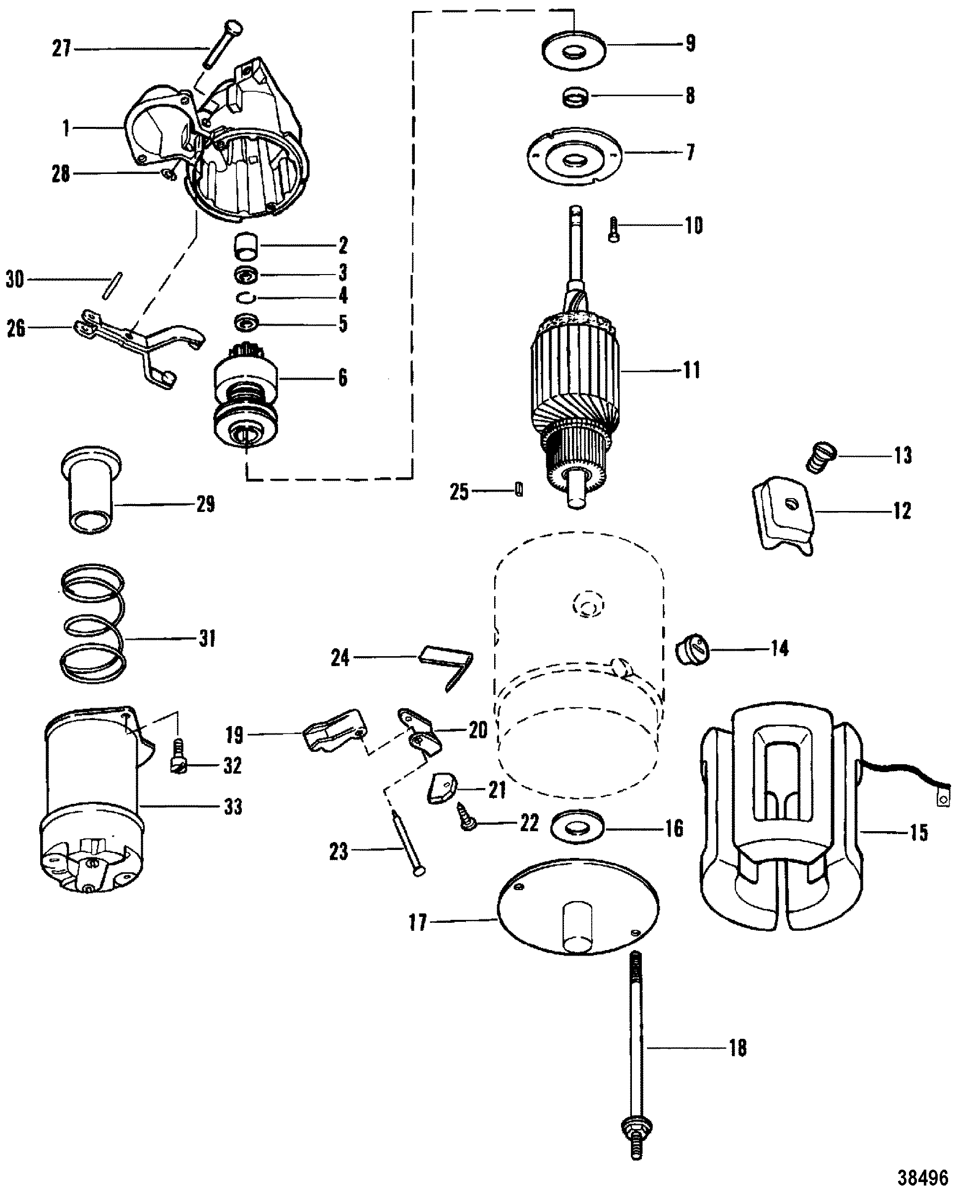 Starter Motor Use With 14 Flywheel For Mercruiser 898 200