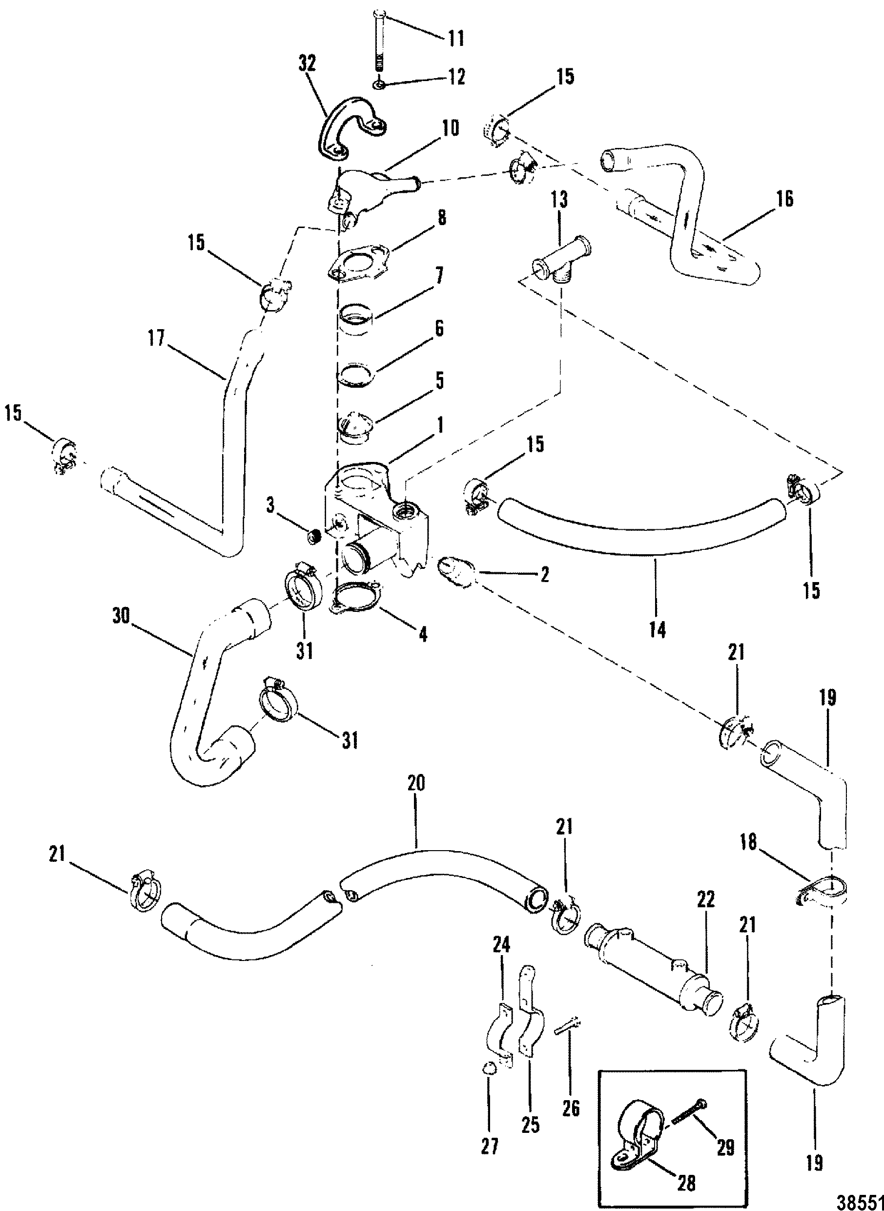 Standard Cooling System Design I For Mercruiser 200 5 0l