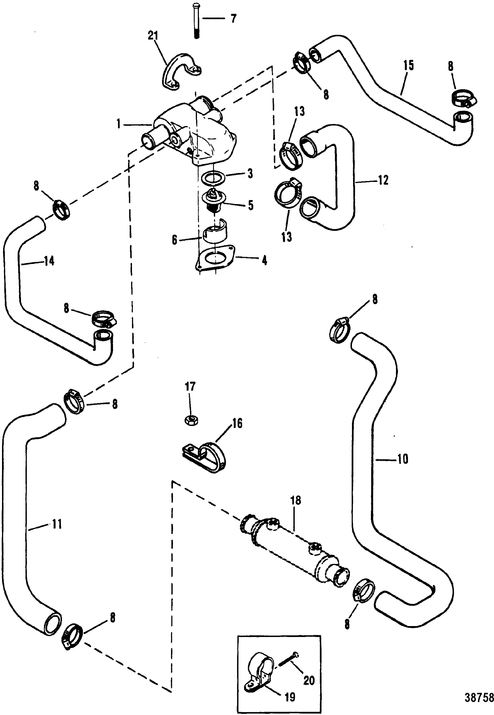 Standard Cooling System Design Ii For Mercruiser 4 3l 4