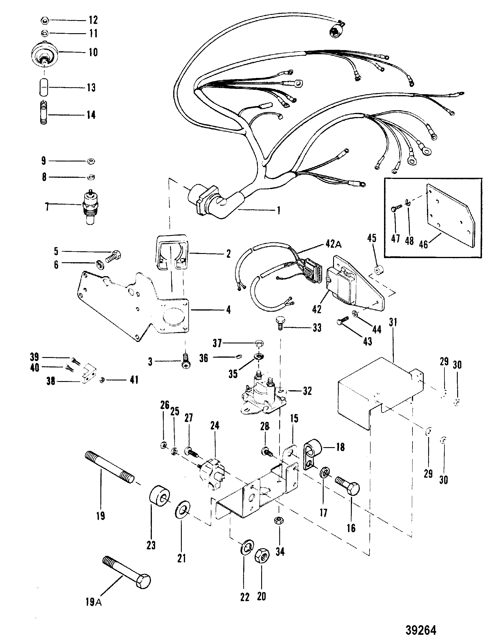 Wiring Harness And Electrical Components For Mercruiser