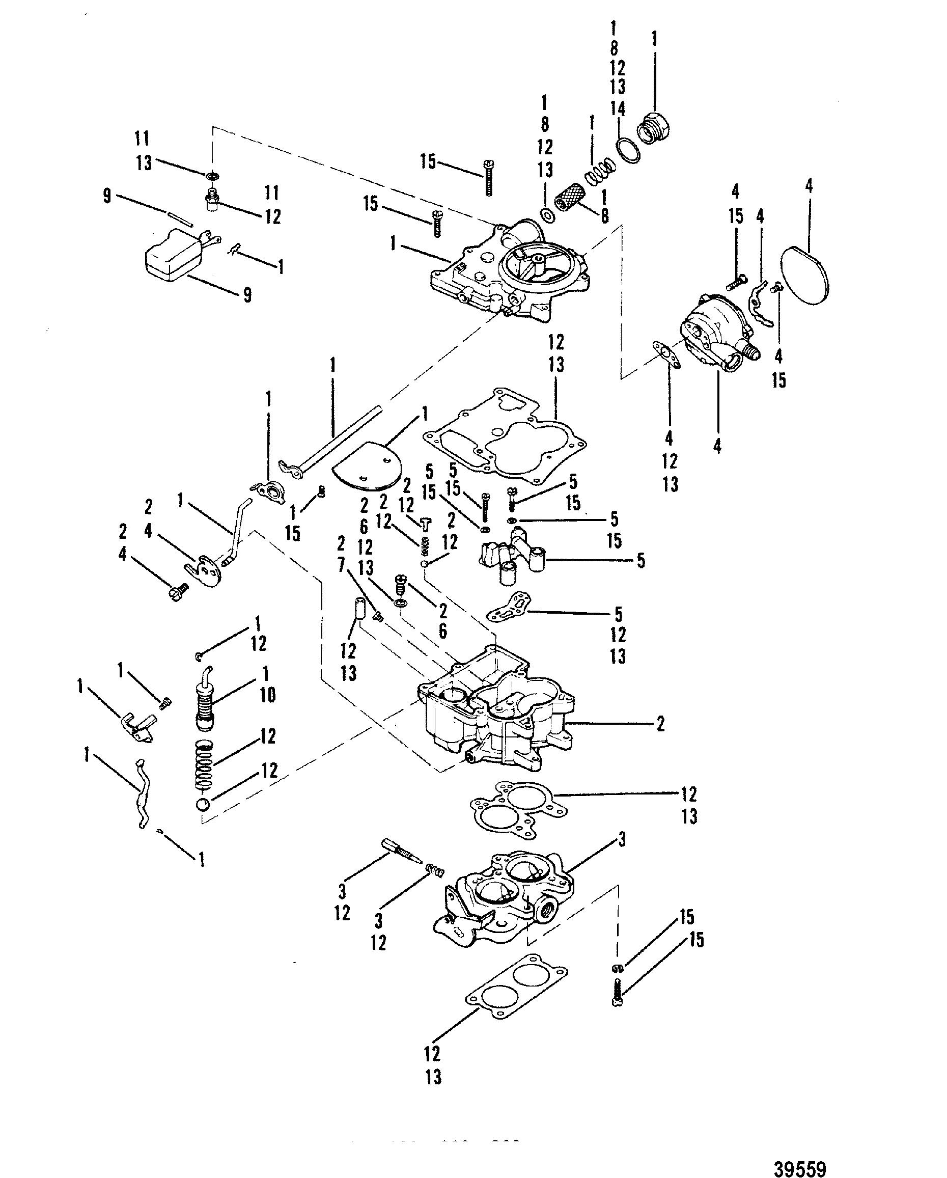 Carburetor Rochester 898 2 Barrel For Mercruiser 898 200