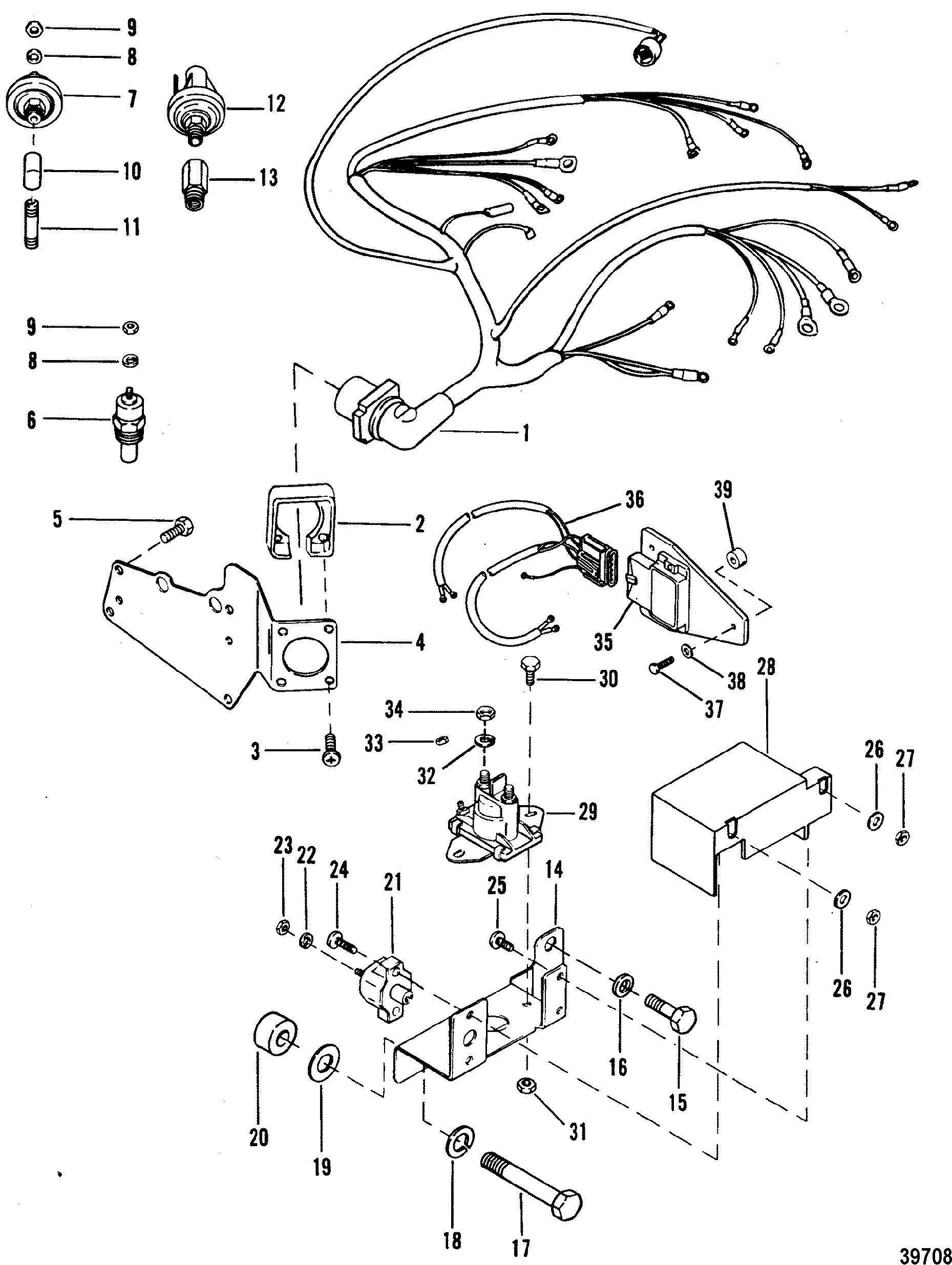 Wiring harness and electrical ponents for mercruiser 4 3l 4 3lx rh jamestowndistributors marine engine wiring harness ford wiring harness diagrams