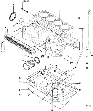 CYLINDER BLOCK, OIL PUMP AND OIL PAN FOR MERCRUISER 470 ENGINE