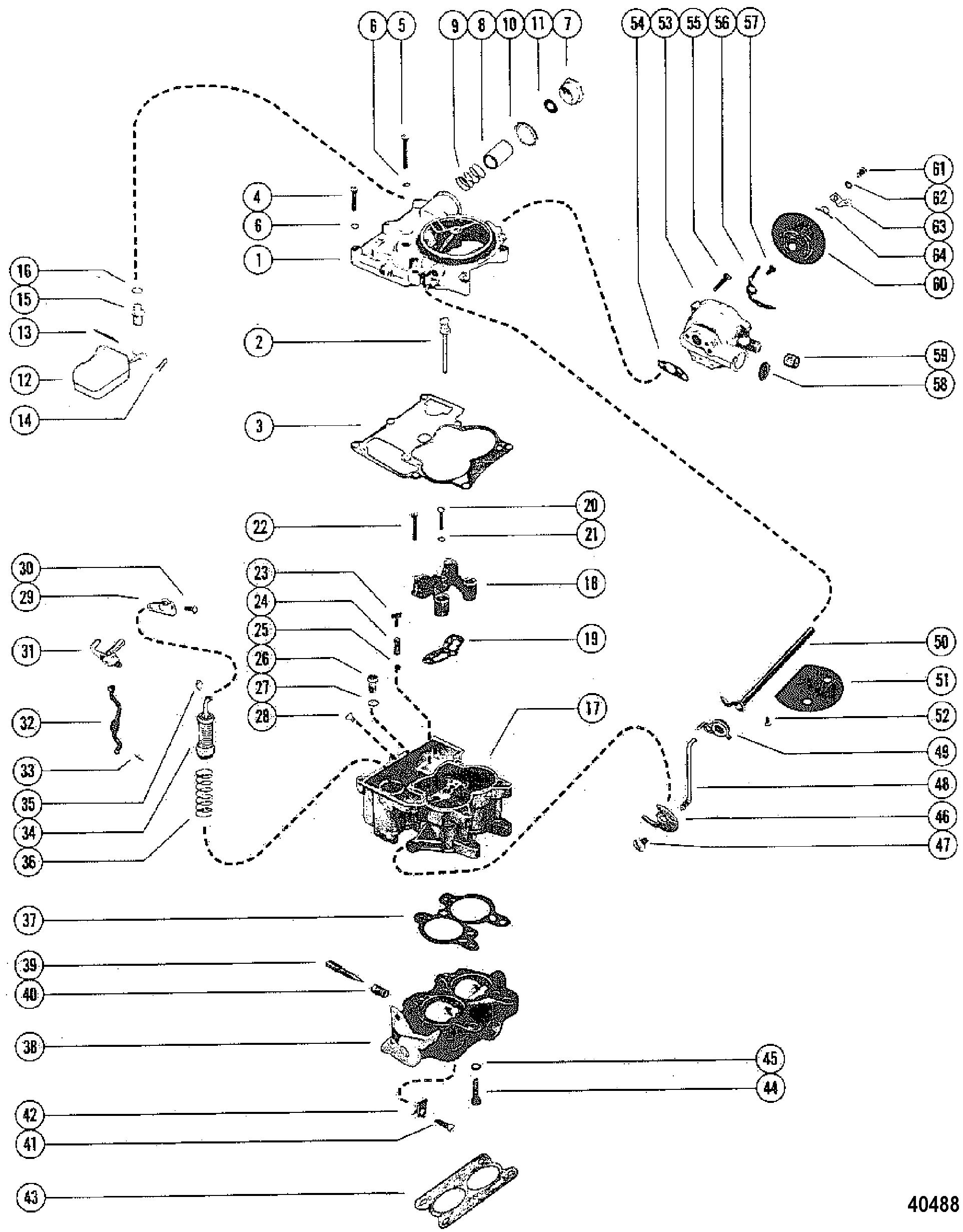 Carburetor Assembly For Mercruiser 470 Engine