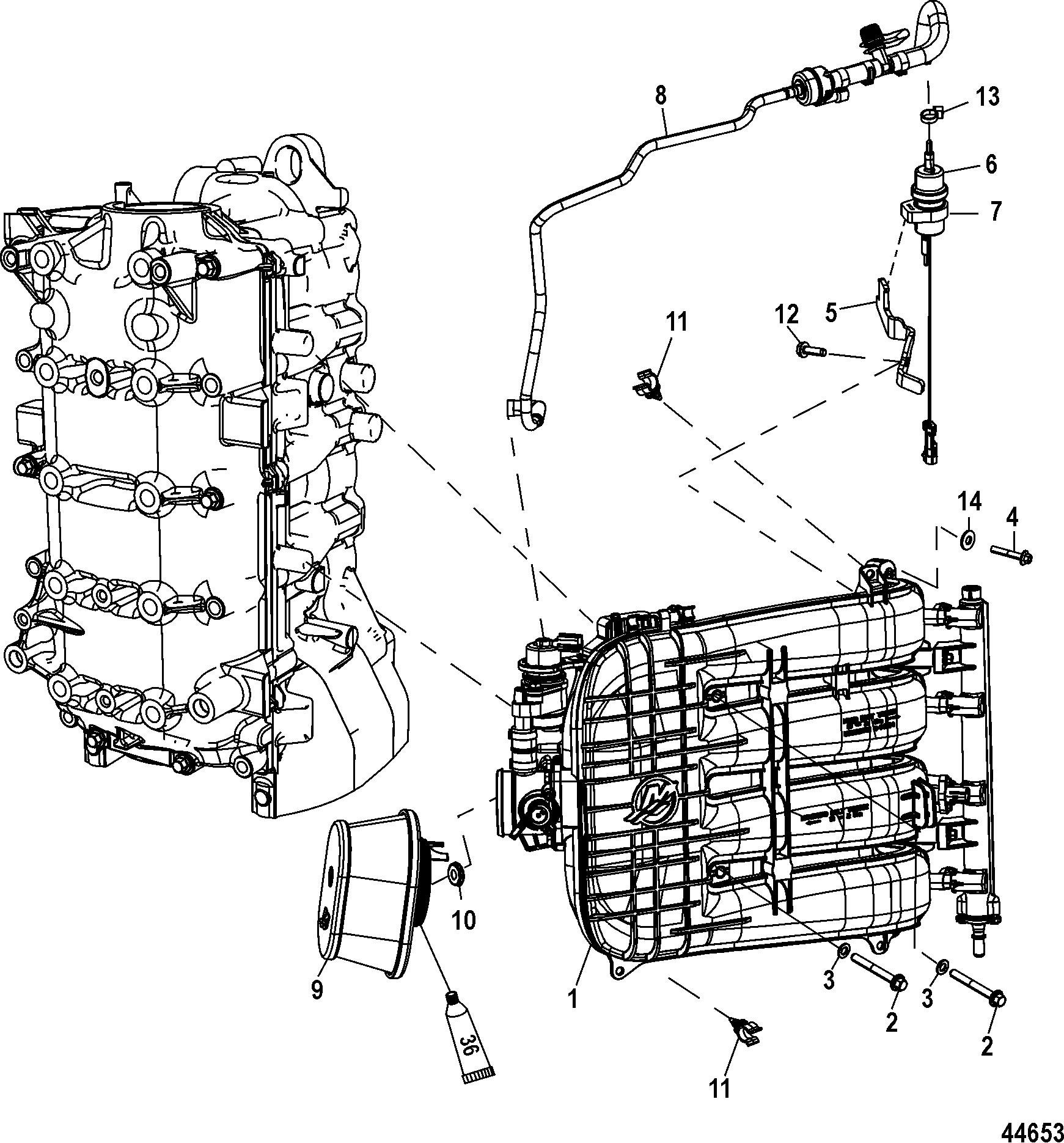 Integrated Air Fuel Module For Mariner Mercury 75 80 90