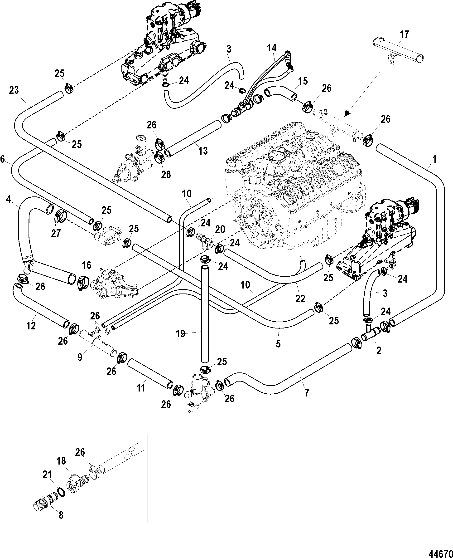 350 Mercruiser Cooling System Schematic Wiring And